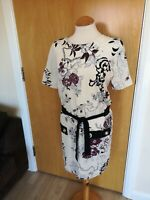 Ladies RIVER ISLAND Dress Size 16 Ivory Tunic Smart Casual Day Party