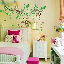 Removable Jungle Monkey Play Wall Stickers Decals Nursery Kids Room Decor Lovely