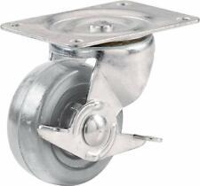 Shepherd Hardware 9274 2-1/2-Inch Hard Rubber Swivel Plate Caste/ Side Brake
