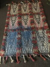 POTTERY BARN TAPIS LANGE KILIM SHAG RUG AUTHENTIC 4' X 6'