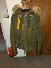 PARAJUMPERS GOBI COYOTE FUR OLIVE GREEN MASTERPIECE JACKET SIZE SMALL