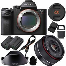 Sony a7R II Full-frame Mirrorless 42.4MP Camera with Rokinon 35mm f/2.8 FE Lens