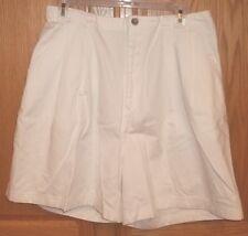 "Womens ST JOHNS BAY~WHITE CHINOS SHORTS~size 14 NWT~Poplin 6"" inseam"