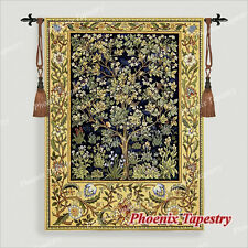 "SMALL William Morris Tree of Life Tapestry Wall Hanging, BLUE, 36"" x 27"", US"