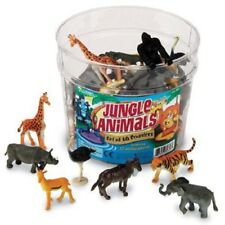 Preschool toys JUNGLE / ZOO wild ANIMALS (60) small world imagination play