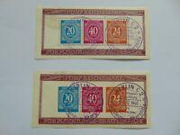 Alliierte Besetzung Briefmarkensaustellung 1946 ABGA Block 12A & 12B mit SST