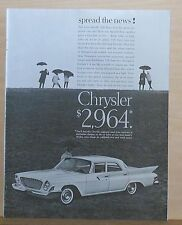 1961 magazine ad for Chrysler - Newport 4-door photo, Spread the News!