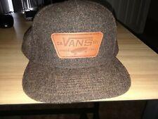 Vans Big Logo 6 Panel Snap Back Wool Hat