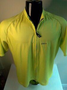 LOUIS GARNEAU Men's Square Cycling Jersey SS Full Zip-Lime Green-SZ XXL-NWT