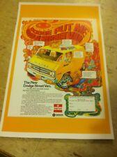 Vintage 1977 Dodge Hippie Van Advertisement Poster Home Decor Man Cave Gift
