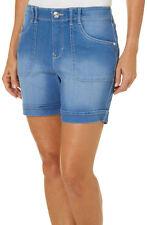 NWT Gloria Vanderbilt Keegan Cuffed Shorts MARIETA WASH; 24W