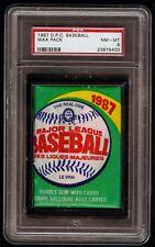 Rare 1987 O-Pee-Chee OPC Baseball Unopened Wax Pack Graded PSA 8 NM-MT