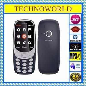 NOKIA 3310 3G Singal SIM Unlocked Phone Bluetooth FM Camera Flashlight Long Life