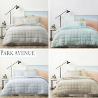 PARK AVENUE Modern Quilted Quilt Cover Set & Coverlet Bed Cover Set 4 Colours