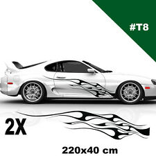 Toyota Supra Side Racing Stripes Stickers Flame For Any Car Tuning Graphic