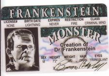 Frankenstein BORIS KARLOFF  plastic collector card Drivers License