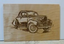 Laser Cut Wood Car Plaques-Wall Art-Counter Displays 1940 Ford Coupe