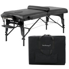 "New 77"" Pu Portable 3"" Padding Folding Massage Table w/Free Carry Case Bed Spa"