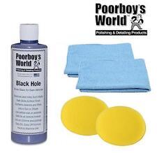 Poorboys Black Hole Show Glaze Polish For Dark Cars 16oz + 2 Free Cloths & Pads