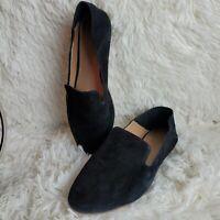 Halogen Women's Black Suede Leather Slip On Loafer Size 8.5 M EUC