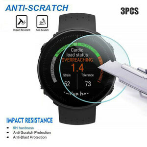 3-PACK Clear Film Tempered Glass Screen Protector For Polar Vantage V/M Watch