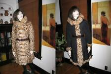 Alberto Makali Leopard Print Hooded Red Fox Fur Coat