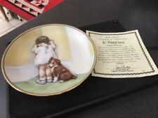 Hamilton Collection Bessie Pease Guttman Collector Plate In Disgrace Girl  & Dog