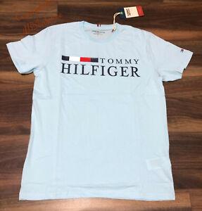 Tommy Hilfiger Men's T-Shirt ( FLAG) SKy Colour L Size Pit to Pit 40'-42'