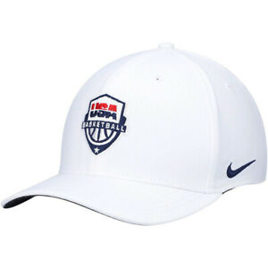Nike Classic99 Dri-Fit Team USA Basketball White Hat Cap