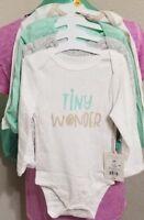 Baby Girls - CLOUD ISLAND 4 pk Long Sleeve Bodysuits - Size 12 Months (12M)