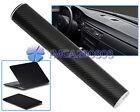 Negro 3D Pegatina Fibra de Carbono Vinilo Accesorio Práctico Coche 30 x127cm