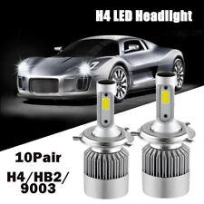 10 Pair COB H4 C6 Auto Car Headlight Kit Hi/Lo Turbo White Light Bulbs 10800LM