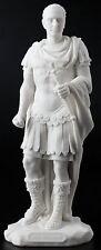 Julius Caesar Statue Roman Emperor in Military Uniform Sculpture Figure Decor