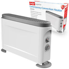 2000W ELECTRIC CONVECTOR HEATER PORTABLE THERMOSTAT 2KW FIRE WALL MOUNTED WHITE