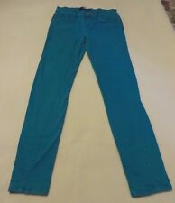 C. Pink Turquoise Blue Skinny Low Rise Jeans - Junior Size 11 Inseam 32
