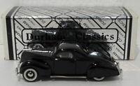 Durham Classics 1/43 Scale DC4  - 1938 Lincoln Zephyr 2 Door Coupe - Black