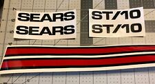 Sears Suburban decals set ST/10 Black Single Red Stripe 6 In Set