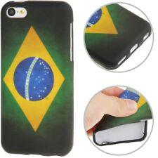 TPU Case für Apple iPhone 5C Retro Flagge Brasilien Schutzcase Hülle Schutzhülle