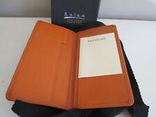 Raika RA114 Orange Leather Travel Passport Wallet MINT Made in USA