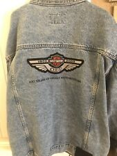 Mens Harley Davidson HD Denim Jacket