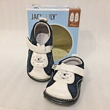 JACK and LILY SHOES 18-24 MOS #125 Leather Sport NAVY Mesh