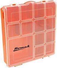 (3) HOMAK Tough Box Container Plastic Small Parts Storage Organizer Tray