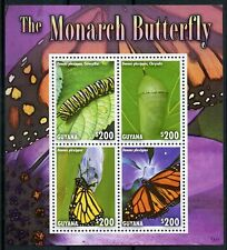 Guyana 2014 MNH Monarch Butterfly 4v M/S II Insects Butterflies Stamps