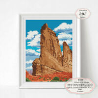 Arches National Park Utah - Landscape Embroidery Cross stitch PDF Pattern #122