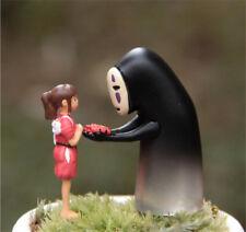 2pcs  Studio Ghibli Spirited Away No Face Man Figure Faceless Figurine Toy Decor