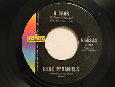 Gene McDaniels 45 A TEAR / SHE'S COME BACK ~ Liberty VG
