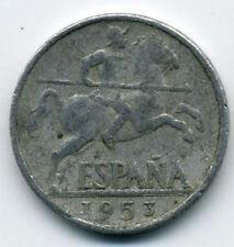 Francisco FRANCO 10 Céntimos año 1953 Aluminio