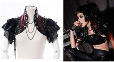 RQ-BL Bolero Visual  Gothic Top Jacket SteampunkKunst- Leder Punk Shrug 21142 R