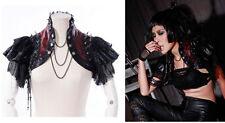 RQ-BL Bolero Visual  Gothic Top Jacket SteampunkKunst- Leder Punk Shrug 21142 R