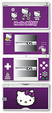 Hello Kitty Vinyl Skin Sticker for Nintendo DS Lite - Purple